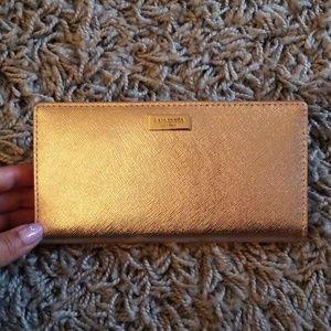 Katespade Rose gold wallet